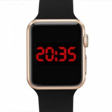 Smart Watch LED Digital Bracelet Watch Sport Strap Wristwatch for Men Women Gold+Black gold+black