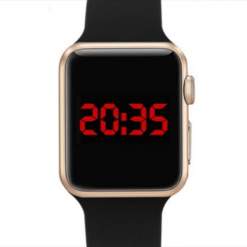Smart Watch LED Digital Bracelet Watch Sport Strap Wristwatch for Men Women Gold+Black gold+black