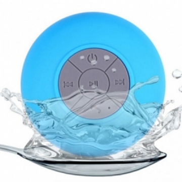 Mini Portable Speaker Bluetooth Water Resistant Bathroom Shower Outdoor Wrieless Bluetooth Speaker blue one size