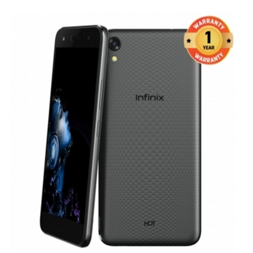 Infinix Hot 5 Lite (X559) 5 5-Inch HD (1GB, 16GB ROM) Android 7, 8MP + 5MP  Dual SIM 3G Smartphone black