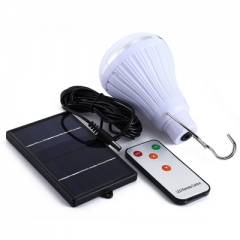 20 LED Dimmable Solar Lamp with Remote Controller as picture as picture 1W