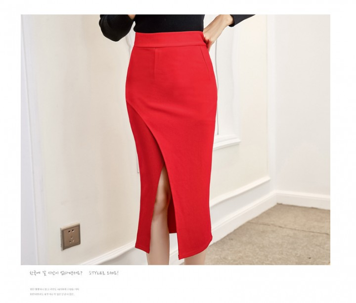 620c9242a Size S-5XL Split OL Pencil Skirt Women Sexy Slim Elegant Work Summer Spring  Skirts
