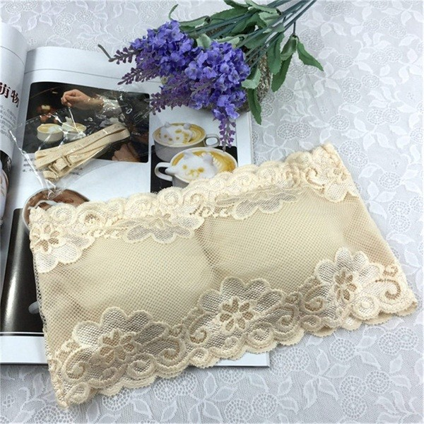0c8c0bbdc6 Colors Lace Floral Bras women Full Cup Strapless Wire Free Wrapped Chest  Female One Size Bras Wit  Product No  437311. Item specifics  Seller  SKU bymRxKjQhm ...
