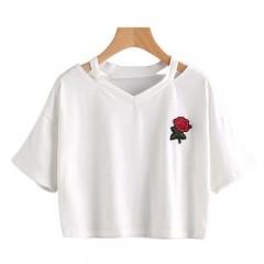 T Shirts Women Eyelashes Eyes Lips 1980 Tee Solid women fashion White Casual Top Female office st