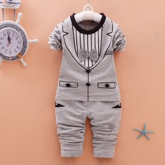 New Style Baby Clothes Sets Stripe Tie Sweater + Pants 2pcs Sets for Infantal Boy Outfit Kids Clo