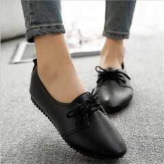 Women casual shoes 2018 spring and summer shoes, flat shoes wild, pure light color mouth female s