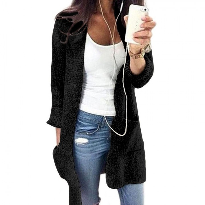 53982207b1bea Women Coat S-5XL Plus Size Loose Streetwear Long Sleeve Sweater loose  knitting Cardigan Sweater