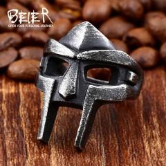316L Stainless Steel Nordic Vikings Vintage Engraving Egyptian Pharaoh Mask fashion wholesale rin