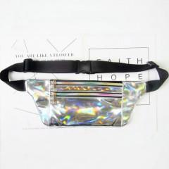 Colors Holographic Fanny Pack Women Belt Bag Hologram Laser Waist Bag Bum Bag 2018 New