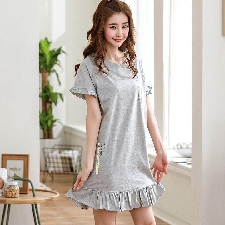 c2966679f571 Cute Women Sleepwear M-XXL Nightgowns Home Wear Girls Sleep Lounge ...