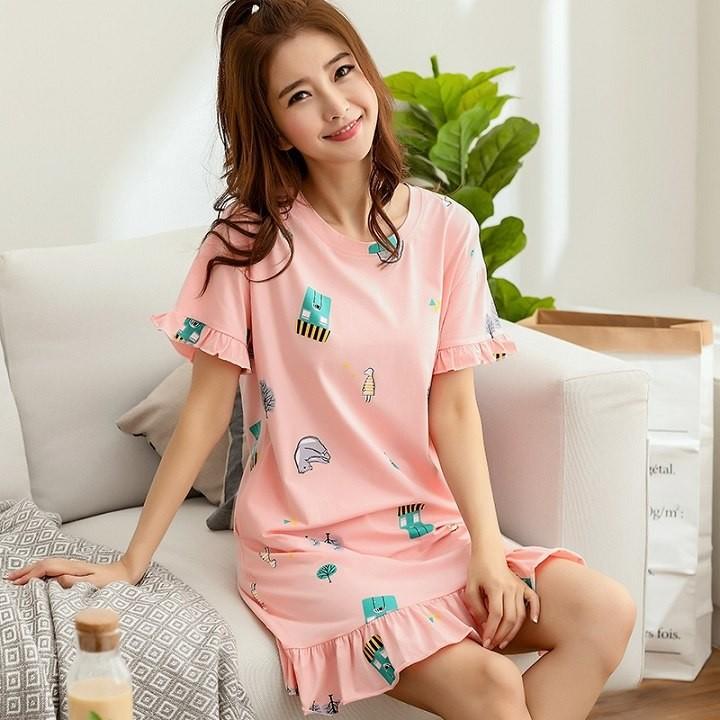 Cute Women Sleepwear M-XXL Nightgowns Home Wear Girls Sleep Lounge  Nightgrowns Dress Home Clothin  Product No  484937. Item specifics  Seller  SKU hMqrKCHEkW ... 6fac9a5d7