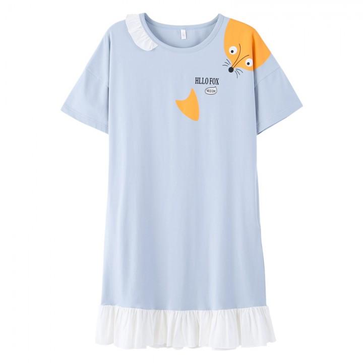 Cute Women Sleepwear M-XXL Nightgowns Home Wear Girls Sleep Lounge  Nightgrowns Dress Home Clothin 55c06e2cb