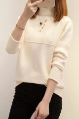 Autumn Winter Women Pullovers Sweater Knitted Elasticity Casual Jumper Fashion Slim Turtleneck Wa