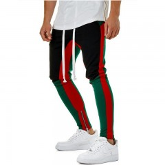 Colors Zipped Ankle Track Pants Waist Banding Panelled Side Stripe Zip Pockets Color Contrast Ret