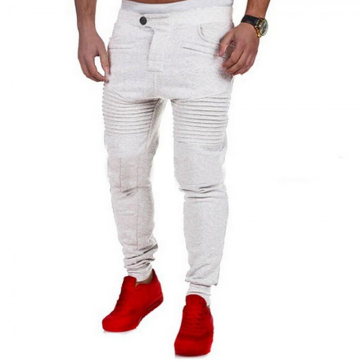 7e4dc49d hot New Fashion Casual Skinny Mens Track Pants Skinny Harem Sweatpants  Tracksuit Bottoms Pants Tr