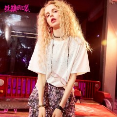 SACK Women Casual T Shirts Sequins Loose Womens Clothing Brand Summer Tops Female Elegant O Neck