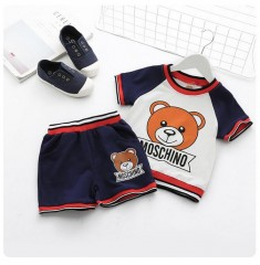 Girls Clothes Set Bear Printed Brother and Sister Family Clothes New Brand Tracksuit for Kids Boy