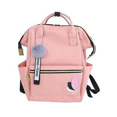 d7be1676cd5d Women Nylon Kanken Backpack Cute Fur School Bags For Teenagers Girls 2018  Fashion Student Large M