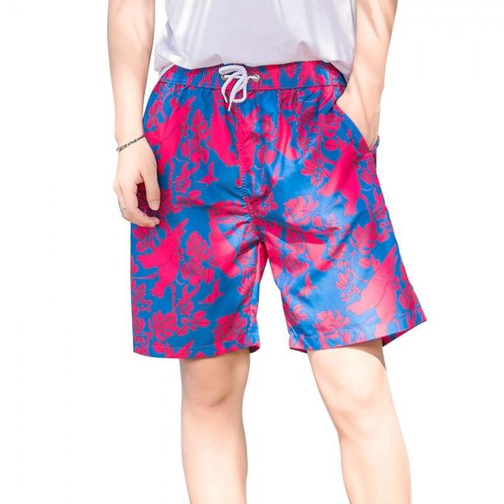e8d80426d5181 Summer Pink Couple Shorts Hawaii Board Shorts Lovers Pants Beach Men/Women  BoardShorts Swimwear B
