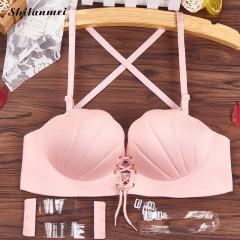 Bra Women Bralette Strapless Push Up Bra Sexy Seamless Wire Free Invisible Bra Shell Underwear Wo