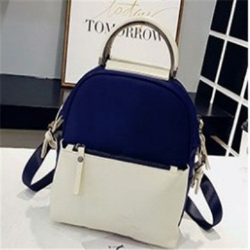 5f2971de9ff2 Fashion Panelled Color Woman Backpack high Quality PU Leather Lady Rucksack  Casual Travel Bag For 510015