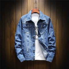 Spring and Autumn Fashion New Men's Casual Denim Jackets / male slim fits cowboy jacket coat / la
