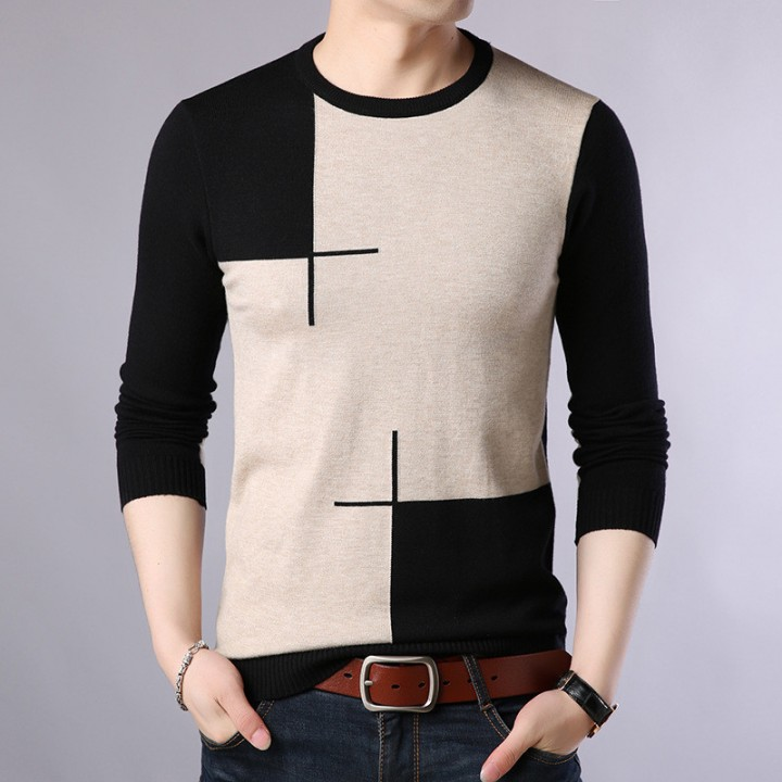 f45664de8 shipping New Fashion 2018 Spring Autumn men Plus Size Wool Pullovers ...