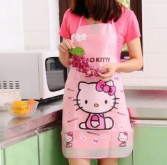 Cartoon Hello Kitty  Apron Sleeveless Waterproof Anti-oil Aprons kitchen Cooking Waist Bib Women Hello Kitty Free size