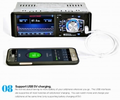 Ouchuangbo 1 Din 4.1 Inch Video card playing With Bluetooth Remote Control Stereo Aux Fm Usb SD