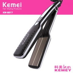 Professional Tourmaline Ceramic Hair Straightener Wide Plate Flat Iron Straightening Irons black normal
