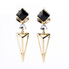 2017 Fashion Tragnle Gold Sample Pendant Earrings Jewelery For Women Earrings gold 2pcs/sets