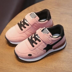 2017 Sport shoes female male child running shoes boy girls slip-resistant casual sneakers shoe pink uk9