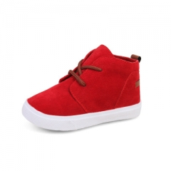 New Fashion Children shoes baby girls Super soft and comfortable boys suede toddler Casual shoes red uk5.5