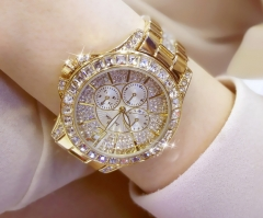Women Bracelet Watches  Lady Rhinestone Wristwatch Ladies Crystal Dress Quartz Watch Clock gold