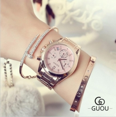 Luxury Diamond Wrist Watch Auto Date Rose Gold Watch Women Watches Fashion Women's Watches Clock pink