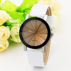 2017 Unisex Watches Women Men Casual Leather Hour Digital Quartz Analog Wrist Watch Clock white boy