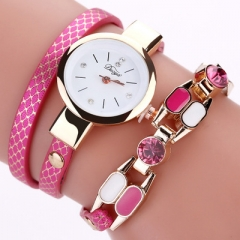 Quartz Wristwatch Fashion Ladies Dress Women Bracelet Female Luxury Girl Casual Vintage Watches pink