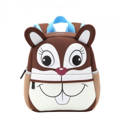 3D Cute Animal Design Backpack Toddler Kid cute zoo School Bags Kindergarten Cartoon Comfortable Bag #01 one size