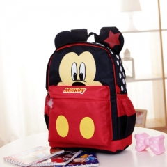 New Cartoon Mickey children backpacks Minnie kids kindergarten backpack school bags red one size