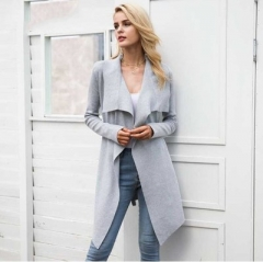 2017 winter sweater women jumper Knitted cardigan female coat Soft casual sweater pull outerwear grey s