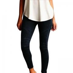 Hot Sale Women Pants Plus Size Casual High Waist Stretch Pencil Pants Women Slim Fit Ladies Trousers black s