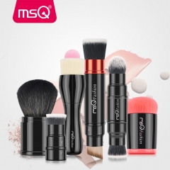 6 Pcs New Portable Retractable Double Ended Blusher Makeup Brush Pro Foundation Cosmetic Blusher as picture