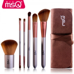 6pcs Makeup brushes Set With Case Professional High Quality Eyeshadow Eyebrow Brush as picture