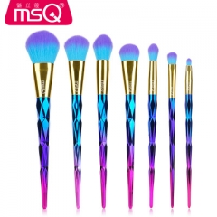7pcs Diamond Handle Tools Powder Foundation Make Up Brush Kit Duo Color Synthetic Hair Cosmetic Tool as picture