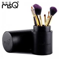High Quality 7 Pcs Makeup Tools Kit Premium Full Function Blending Powder Foundation Brush as picture
