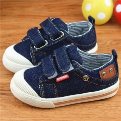 Kids Shoes for Girls Boys Sneakers Jeans Canvas Children Shoes Denim Running Sport Baby Sneakers dark blue uk5.5