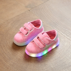 Boys Shoes Girls Sneakers Spring Brand Stars Led Girls Princess Shoes Children Shoes With Light pink uk5.5
