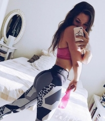 Women Fitness High Elastic Skinny Pants Fashion Clothing For Women Push up Workout Leggings black s