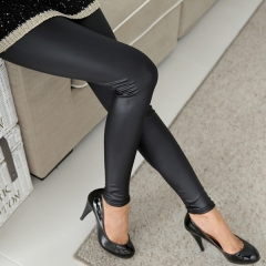 Faux Leather Leggings Navy Blue Sexy Women Leggins Thin Black Leggings Calzas Mujer Leggins black s