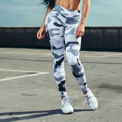 Hot Sale Women Leggings Workout Fitness Sexy Long Trousers Camouflage Leggings For Women blue s